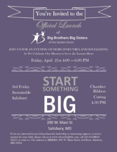 Official Launch of Big Brothers Big Sisters of the Eastern Shore